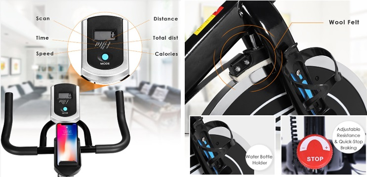 ANCHEER best home gym exercise bike