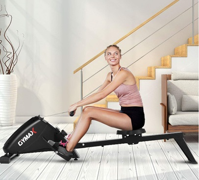 Gymax Goplus Magnetic Air Rowing Machine