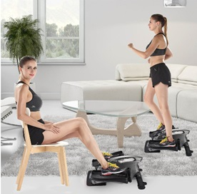 IDeer Life Under Desk and Stand Up Mini Elliptical Exercise Bike