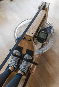 Incline water rower